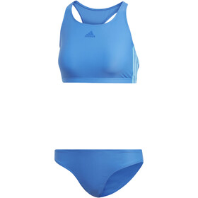 adidas Fit 3-Stripes Infinitex Bikini Donna, true blue